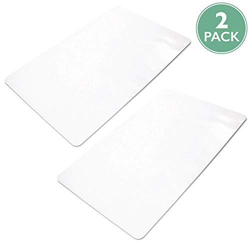 Ilyapa Heavy Duty Office Chair Mat - 2-Pack - 36 x 48 Inches - Clear, Durable PVC Chair Mat for Hardwood Floors - Protective Floor Mat for Office, Computer Desk Chair Mat