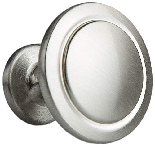 Satin Nickel Kitchen Cabinet Knobs - 1 1/4 Inch Round Drawer Handles - 5 Pack of Kitchen Cabinet Hardware