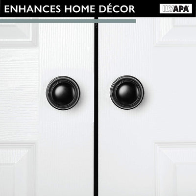 Decorative Non-Turning Dummy Door Knob Handle - Matte Black Finish