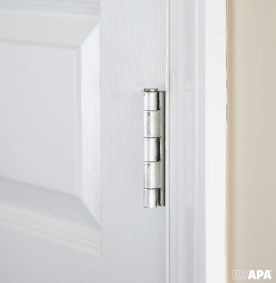 6 Pack of Door Hinges Satin Nickel - 3.5 x 3.5 Inch Interior Hinges for Doors Brushed Nickel with 5/8 Inch Radius Corners