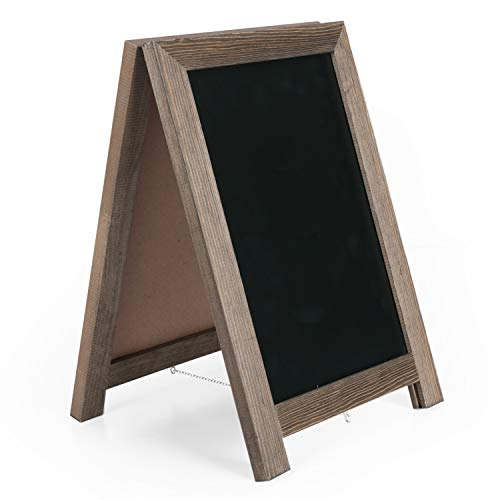 Ilyapa Tabletop Chalkboard Sign - 10x14 Wooden A-Frame Freestanding Sandwich Board Menu Display