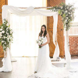 Birch Ceremony Chuppah by ShopFlowersbyYona.com