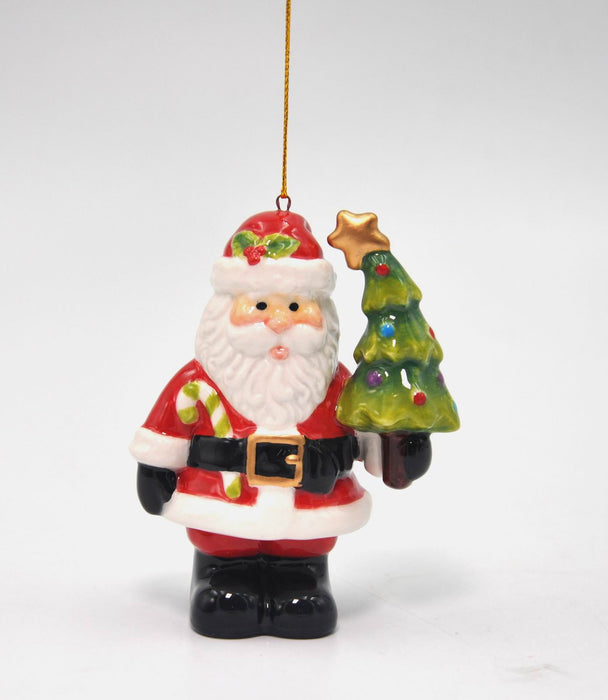 Santa Holding Tree Ornament