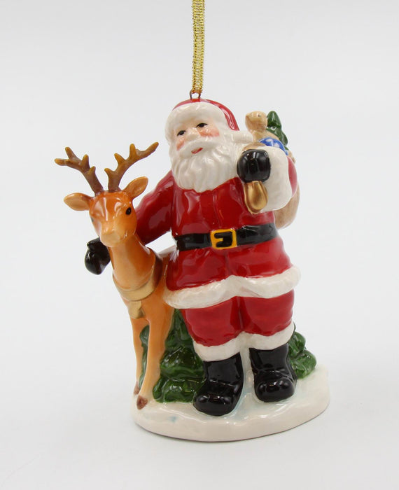 Santa & Deer Ornament