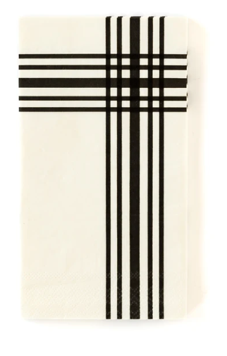 Black and White Guest Towels