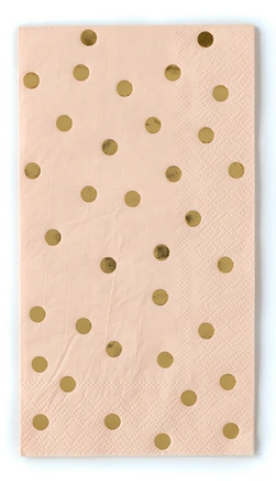 Gold Foil Polka Dot Guest Towels