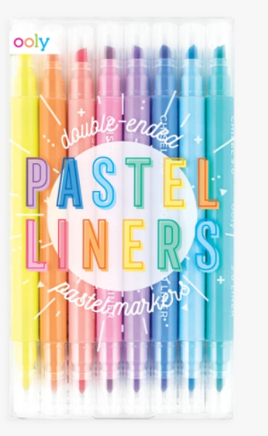Pastel Liners Double-Ended Markers