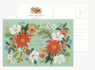 Holiday Floral Postcard