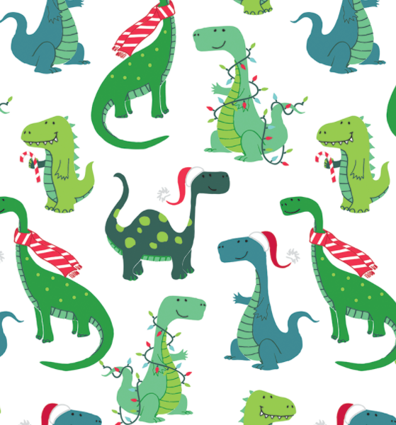 Decked out Dinos Holiday Wrap