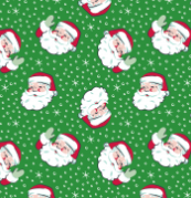Nostalgic Santa Holiday Wrap
