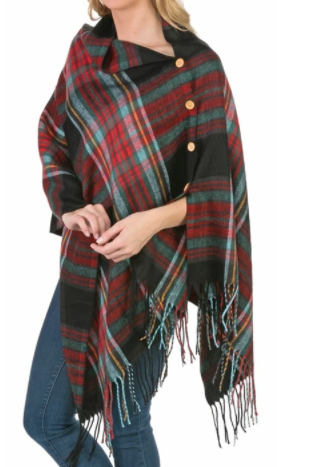 3 in 1 Plaid Wrap