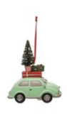 Mint Car with Tree Ornament