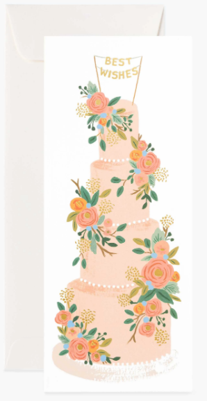 Tall Wedding Cake No.10 Card