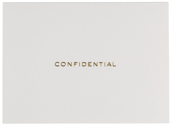 Confidential Notecard Set