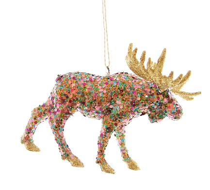 Confetti Moose Ornament