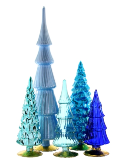 Blue Glass Trees