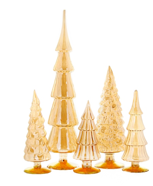 Amber Glass Trees