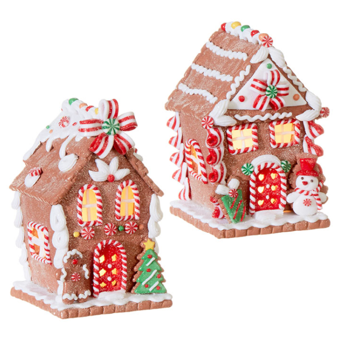 Lighted Gingerbread Cottages