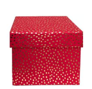 Gold Flurry on Red Gift Box