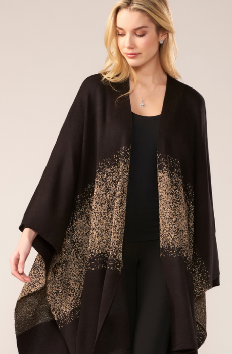Black Cape with Glitter Detail