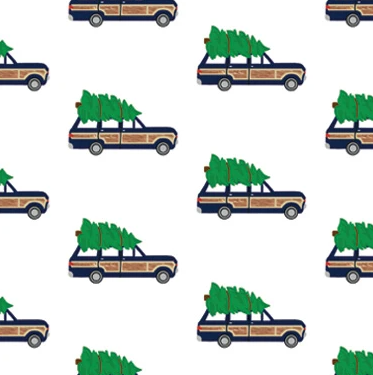 Woodie Jeep Wrangler Gift Wrap