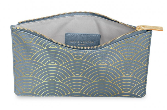 Perfect Pouch -Blue Wave Print