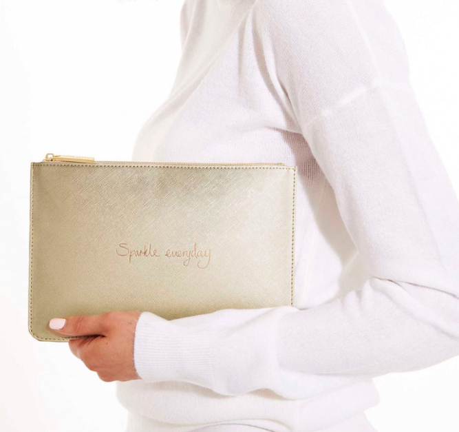 Perfect Pouch -Gold Sparkle Everyday