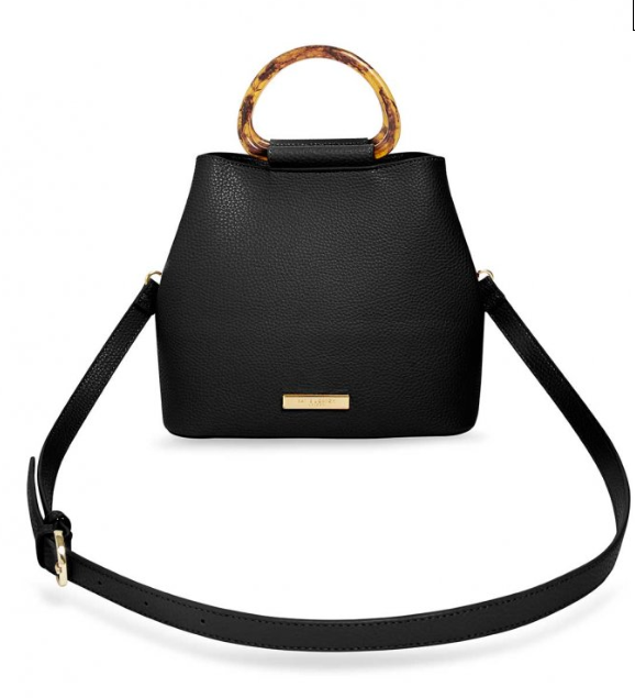 Tori Tortoiseshell Purse - Black