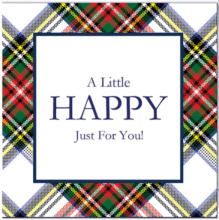 Stewart Plaid Little Happy Enclosure Cards