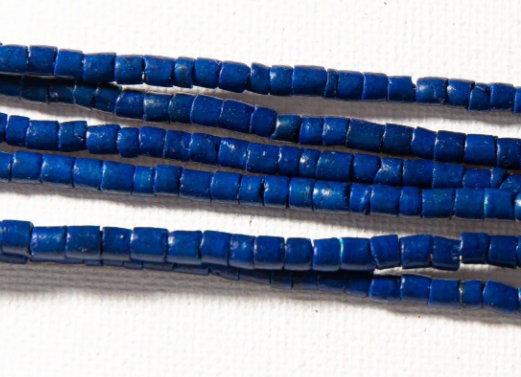 Beaded Mask Necklace - Blue