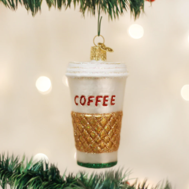 Coffee To Go Cup Ornament