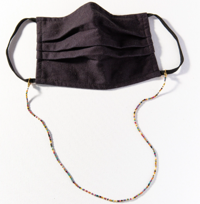 Multi Beaded Mask Necklace - Confetti