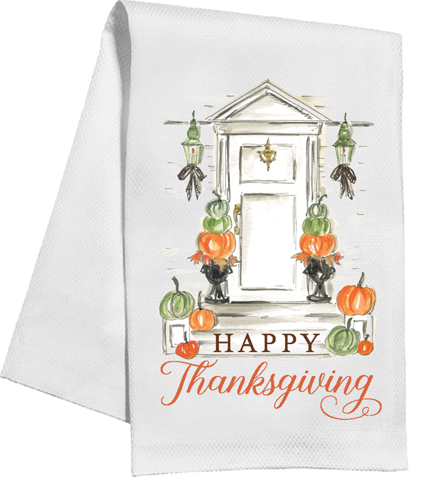 Festive Door Kitchen Towel