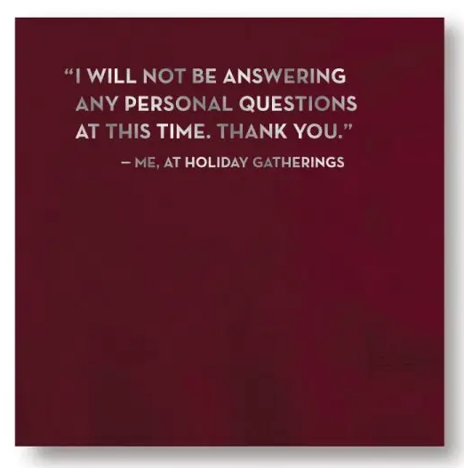Personal Questions Napkins