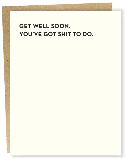 Stuff to Do Get Well Card