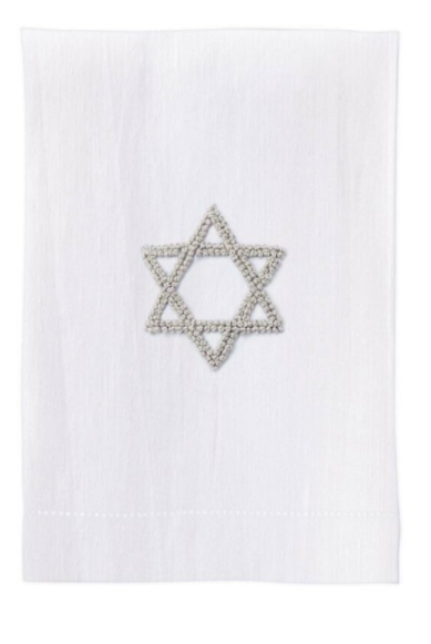 Holiday Star Tea Towel - White