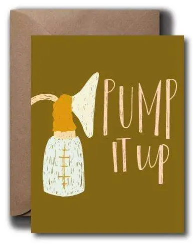 Pump it Up Baby Card