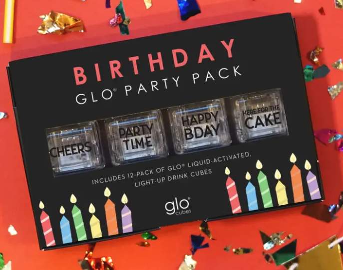 Glo Pack Liquid Activated Cubes (Birthday 12 Pack)