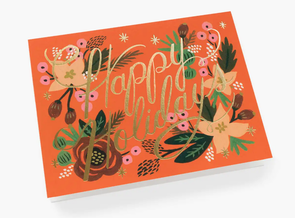 Poinsettia Happy Holidays Card
