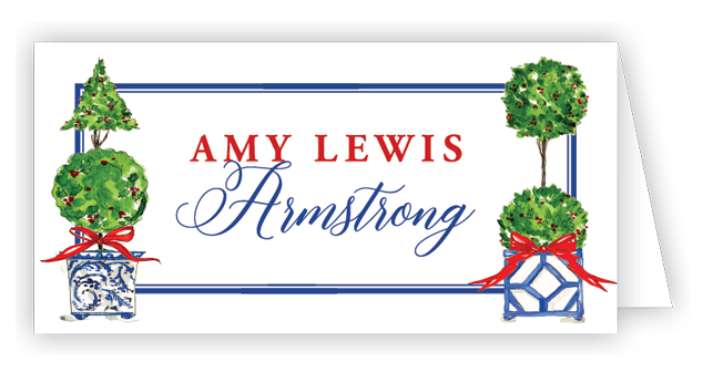 Holiday Topiaries Place Cards