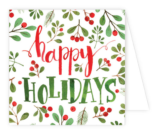 Happy Holidays Berries Enclosure Card