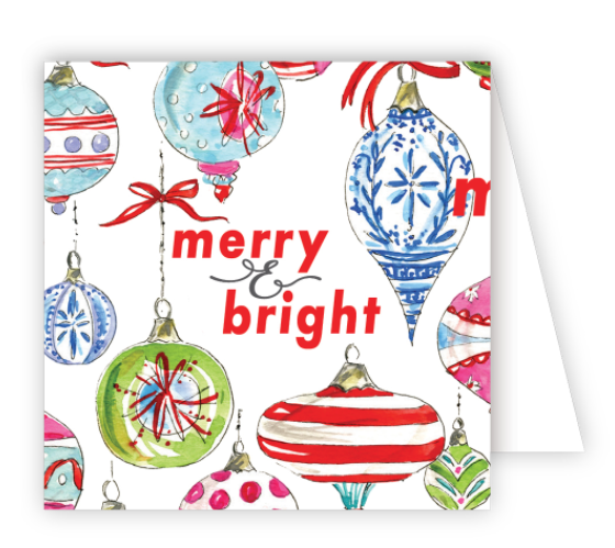 Merry and Bright Ornaments Enclosure Card