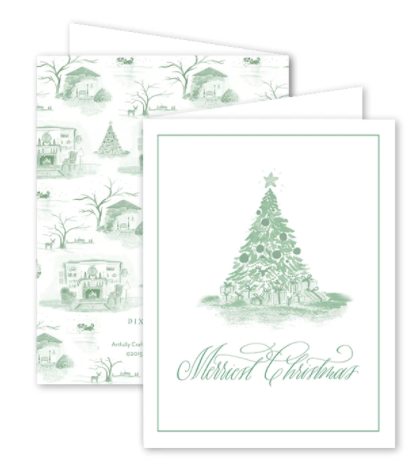 Christmas Toile Green