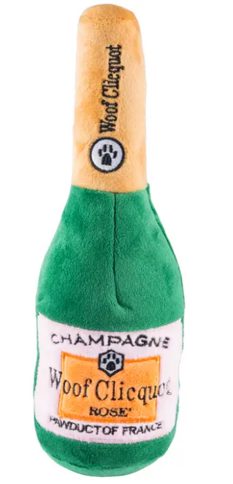 Woof Clicquot Rose Champagne Dog Toy