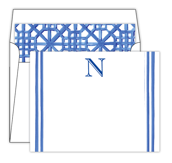 Lattice Monogram Stationery