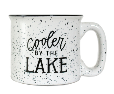 Cooler by the Lake Campfire Mug - White