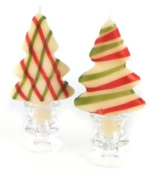 Christmas Tree Candles Set of Two