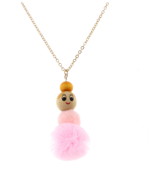 Ballerina Pom Necklace