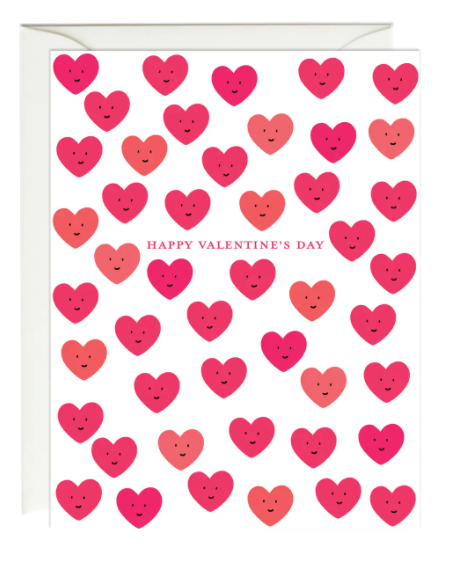 Cute Valentine's Day Hearts Card