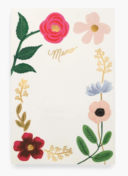 Wildflower Memo Notepad